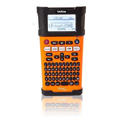 Brother PT-E300VP Industrielles Beschriftungsgerät inklusive Lithium-Ionen Akku, Netzadapter und Transportkoffer (für TZe-Schriftbänder und HSe-Schrumpfschläuche, Thermotransfer-Druckverfahren)
