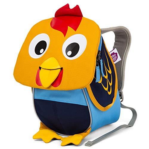 Affenzahn Kleiner Freund - Kindergartenrucksack für 1-3 Jährige Kinder im Kindergarten und Kinderrucksack für die Kita - Hahn - Gelb