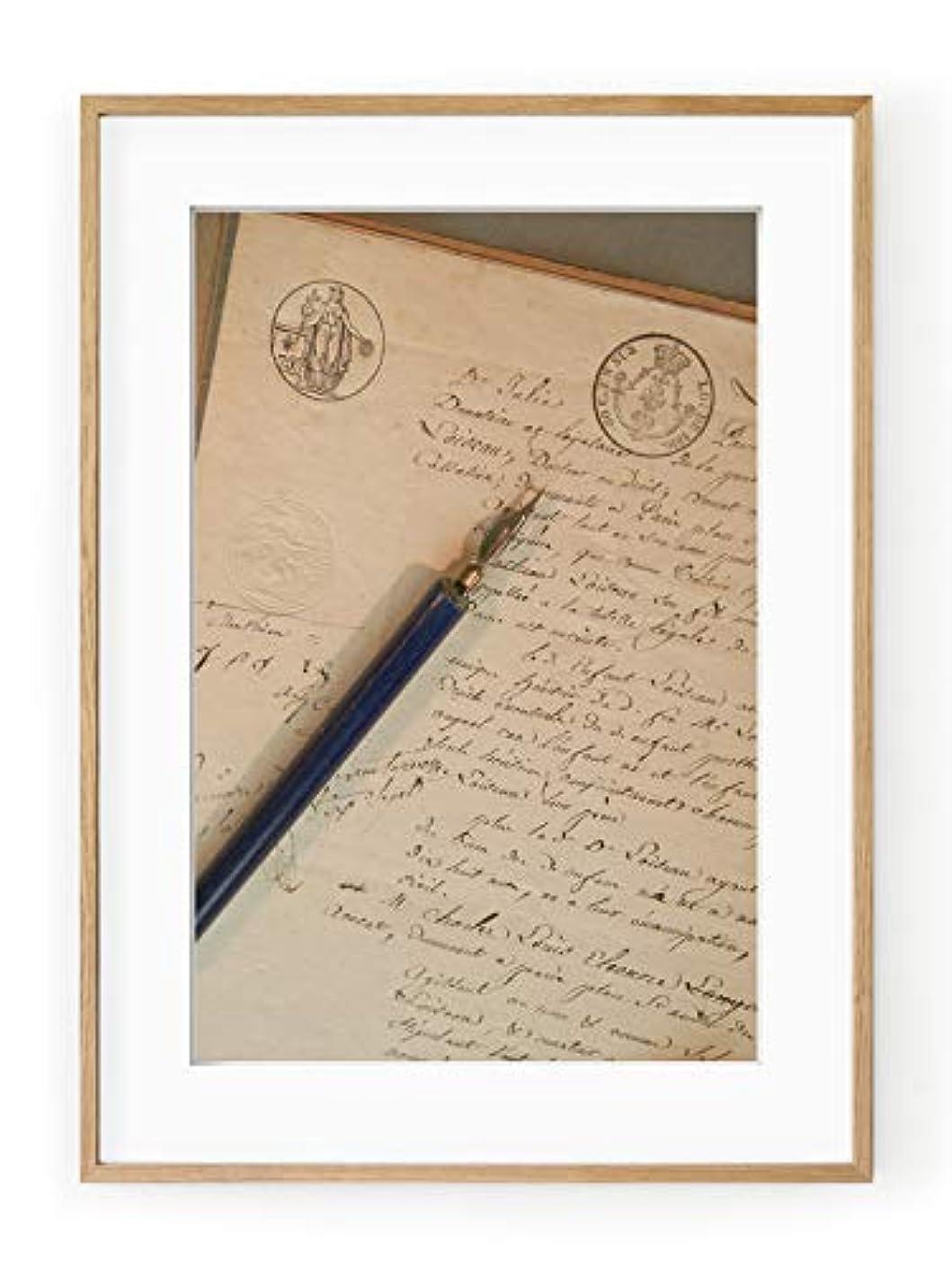 Letter and Pen Holder, Aluminium Frame, Full Format, Multicolored, 40x50