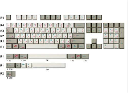キーボードとマウス 117鍵PBT日本語キーキャップPBT Dyesubキーキャップ染料サブキーキャップ用キーボード (Color : 117 keycaps)