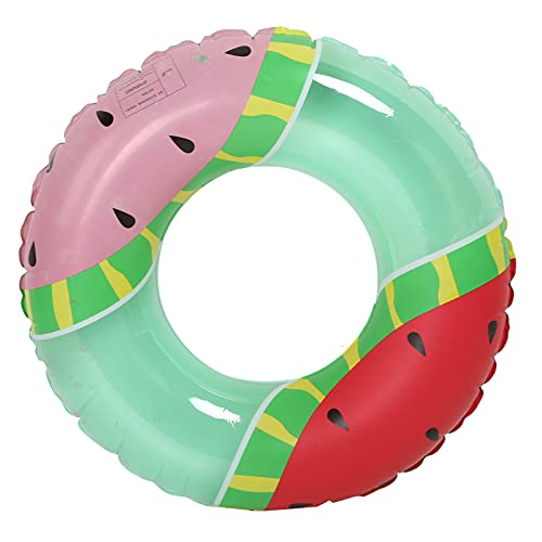 Kudoo Anello da Nuoto Gonfiabile, Tubo Galleggiante per Piscina, Anello da Nuoto A Forma Rotonda Modello Anguria Anello da Nuoto per Piscina Tubo Galleggiante