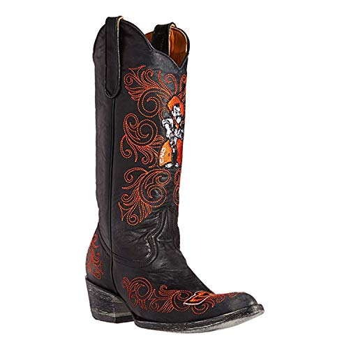 Gameday Boots Womens Oklahoma State Dama Boots Black-Orange 7