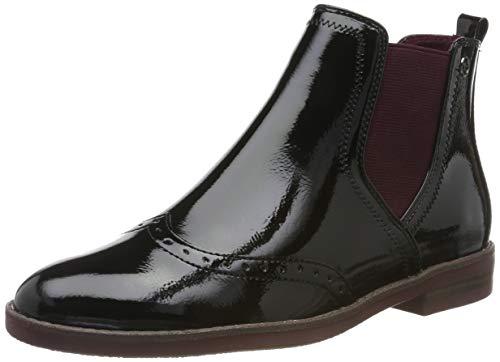 Tamaris Damen 1-1-25313-23 Chelsea Boots, Schwarz (Black Patent 18), 39 EU