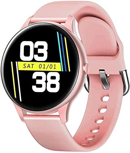 XYJ Smart Watch 1 3 Pulgadas Color Redondo Pantalla Deportiva Fitness Step Counter Sleep Monitoring Pulsera (Color : Pink)