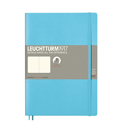 Leuchtturm1917 Notitieboek, softcover blanco Composition (B5) ijsblauw