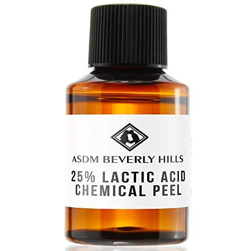 ASDM Beverly Hills Lactic Acid Peel 25% 1oz 30ml Medical Strength Treatment Hyperpigmentation, Age Spots, Melasma, Brighten Dull Skin Discoloration Uneven Complexion, AHA Chemical Peels, Sensitive Dry