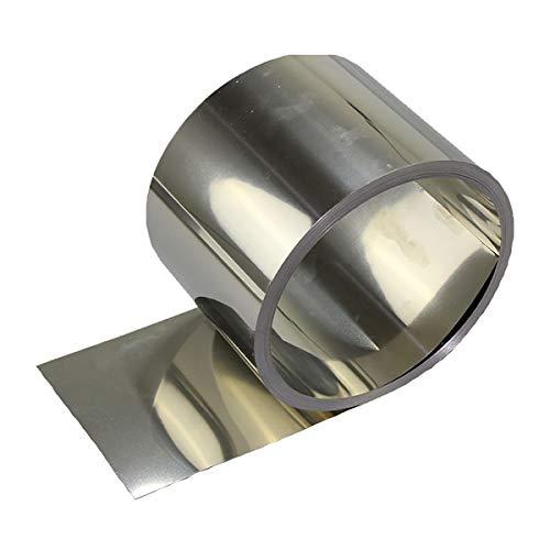 LEISHENT Lámina De Acero Inoxidable 304 De Color Plateado para Piezas De Maquinaria De Precisión De Equipos Electrónicos Ancho 50 Mm A 100 Mm Espesor 0,5 Mm Longitud 3 M,0.5x100x3000mm