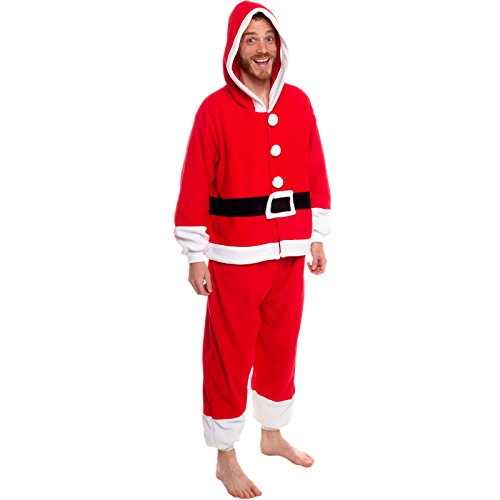 Silver Lilly Unisex Pajamas - One Piece Cosplay Holiday Santa Claus Costume, XL