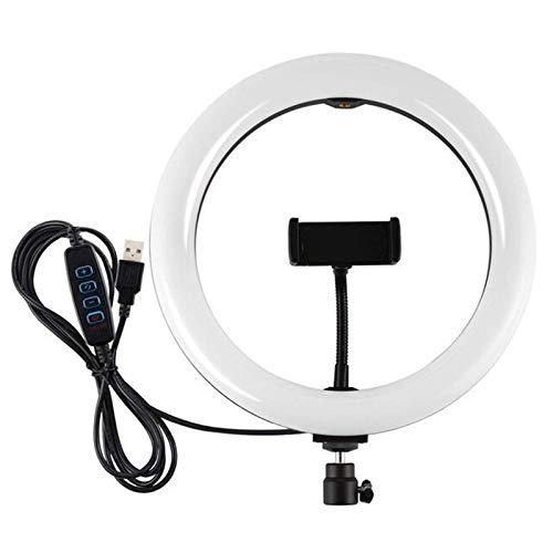 Selfie Anillo de luz LED regulable de 25,4 cm para transmisión en vivo para fotografía en vivo (tamaño: 25,4 cm, color: negro)