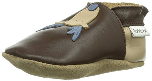 Bobux 460743, Chaussures Premiers Pas pour bébé (Fille) - Marron - Marron (Chocolat), S EU (1 Baby UK) EU
