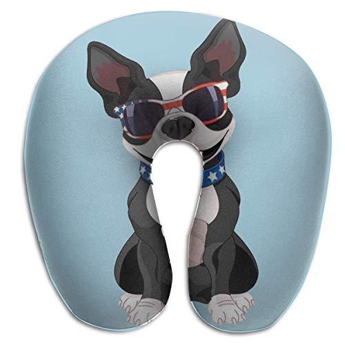 Almohada en Forma de U, Cuello, Bulldog francés, Viaje, Almohada Multifuncional, Coche, avión