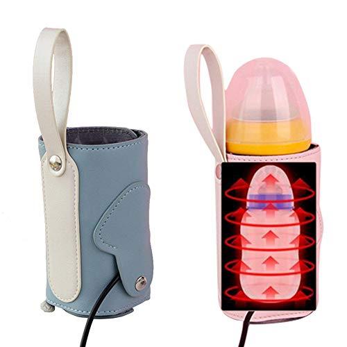 Fläschchenwärmer, Milchflasche Isolierung Tasche, Babyflaschen Zubehör Thermotasche, USB Babyflasche Konstant Wärmer, Abnehmbarer Tragbarer Milchheizungs, Auto Beheizte Reiseflasche für Baby