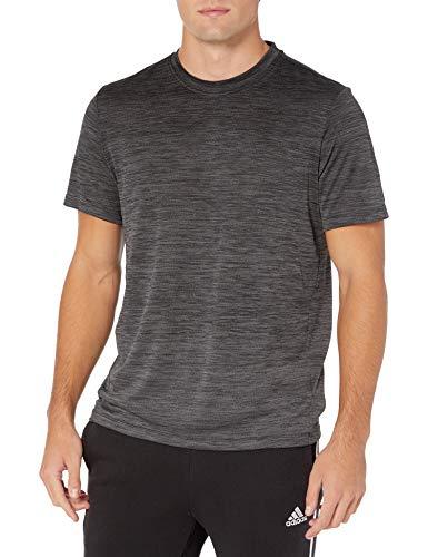 adidas Camiseta degradada para Hombre, Hombre, Camisa, GLC04, Gris/Negro, L