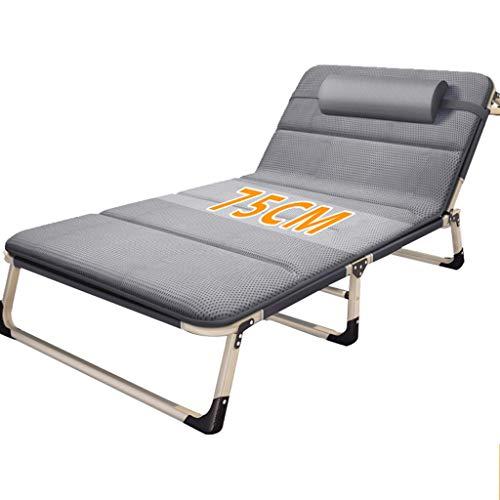 Bain de soleil Lit de repos inclinable Chaise de relaxation Piscine Zero Gravity Chaise longue pliante Lit bébé réglable Camping Plage de bronzage (Couleur : Blue chair+cushion b)