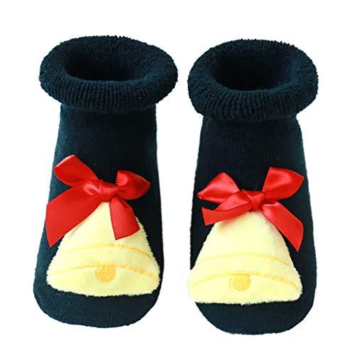 Fenverk Baby Socken, Weihnachten Socken Neugeborenes Baby Jungen Mädchen Boden Socken Anti-Rutsch Baby Schritt Socken,0-3 Jahre