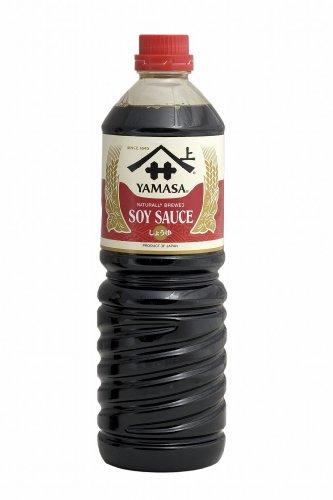 6er Pack ~ [6x 1000ml] Sojasauce YAMASA dunkel Soja Sauce aus Japan