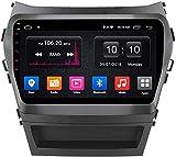 Android de 9 Pulgadas 8.1 GPS Radio de automóvil de navegación para Hyundai IX45 Santa FE 2013-2018, FM/Bluetooth/WiFi/Vista Trasera Cámara/Controles de Volante
