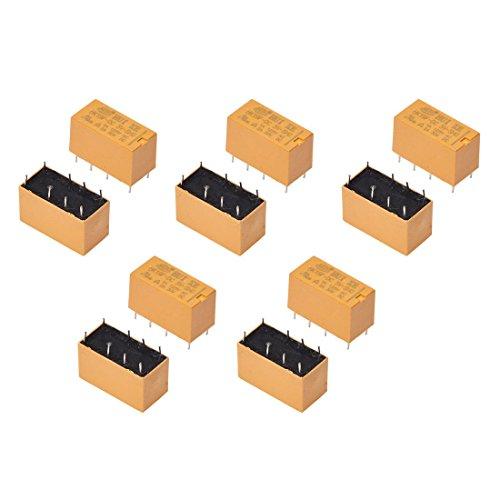 Rele - SODIAL(R) 10 x DC 5V bobina 125V / 1A CC 30V / 2A AC 2A / 30V DC 8 pines DPDT Rele de potencia HK19F