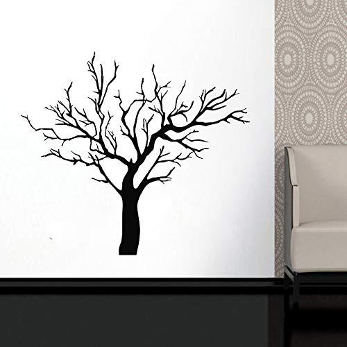 Calcomanía de pared de árbol de invierno ramas de árbol planta decoración del hogar pegatinas rollo de papel tapiz decoración del hogar calcomanía A6 57x64cm
