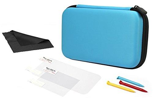 Amazon Basics - Funda de transporte para Nintendo 2DS XL con 3 lápices capacitivos y 2 protectores de pantalla - Turquesa
