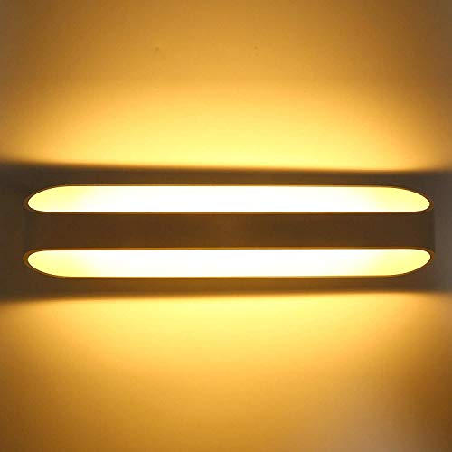 Led muur wassen licht op en neer wandlampen binnen moderne muur schanskorf lamp aluminium Uplighter woonkamer muur lamp