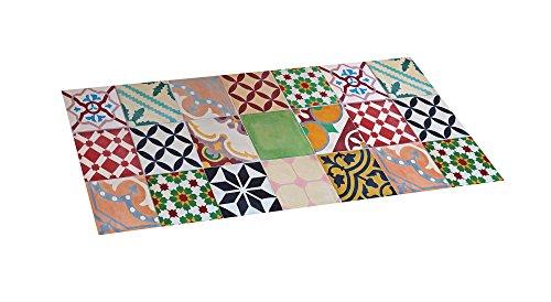 STOR PLANET Alfombra vinílica Acolchada Croma Mosaico 50 x 110 cm, Cloruro de polivinilo