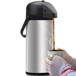 top rated Air Pot Coffee Dispenser with Pump – Insulated Coffee Carafe Made of Stainless Steel (102 oz) – Thermal… 2021