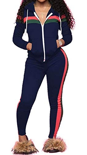 Conjunto de 2 piezas de chándal para mujer, cuello redondo, manga larga, pantalones largos, conjunto para deporte