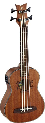 Ortega Guitars Lizard Series 4 String Ukebass, Right (LIZZY-BS-GB)
