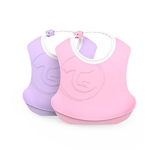 Vital Innovations Twistshake 78219 Bavoir pour enfant Rose pastel