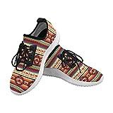 InterestPrint Dolphin Ultra Light Womens Walking Shoes Aztec Western Style Print Pattern US8