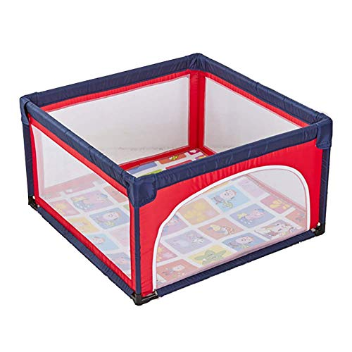 LXDDP Baby Playard avec Matelas Anti-Renversement Toddlers Playpen Activity Center Extérieur Diviseur Chambre pour Enfants à l'intérieur (Taille: 120 × 120 cm)