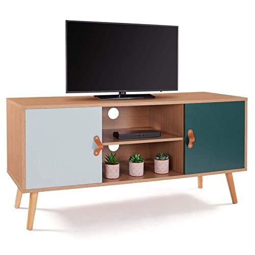IDMarket - Meuble TV scandinave Alize Bois et Vert