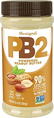 PB2 Original Powdered Peanut Butter - 6g of Protein, 90% Less Fat, Certified Gluten Free, Only 60 Calories per Serving, Perfect for Protein Shakes, Smoothies, and Low-Carb, Keto Diets