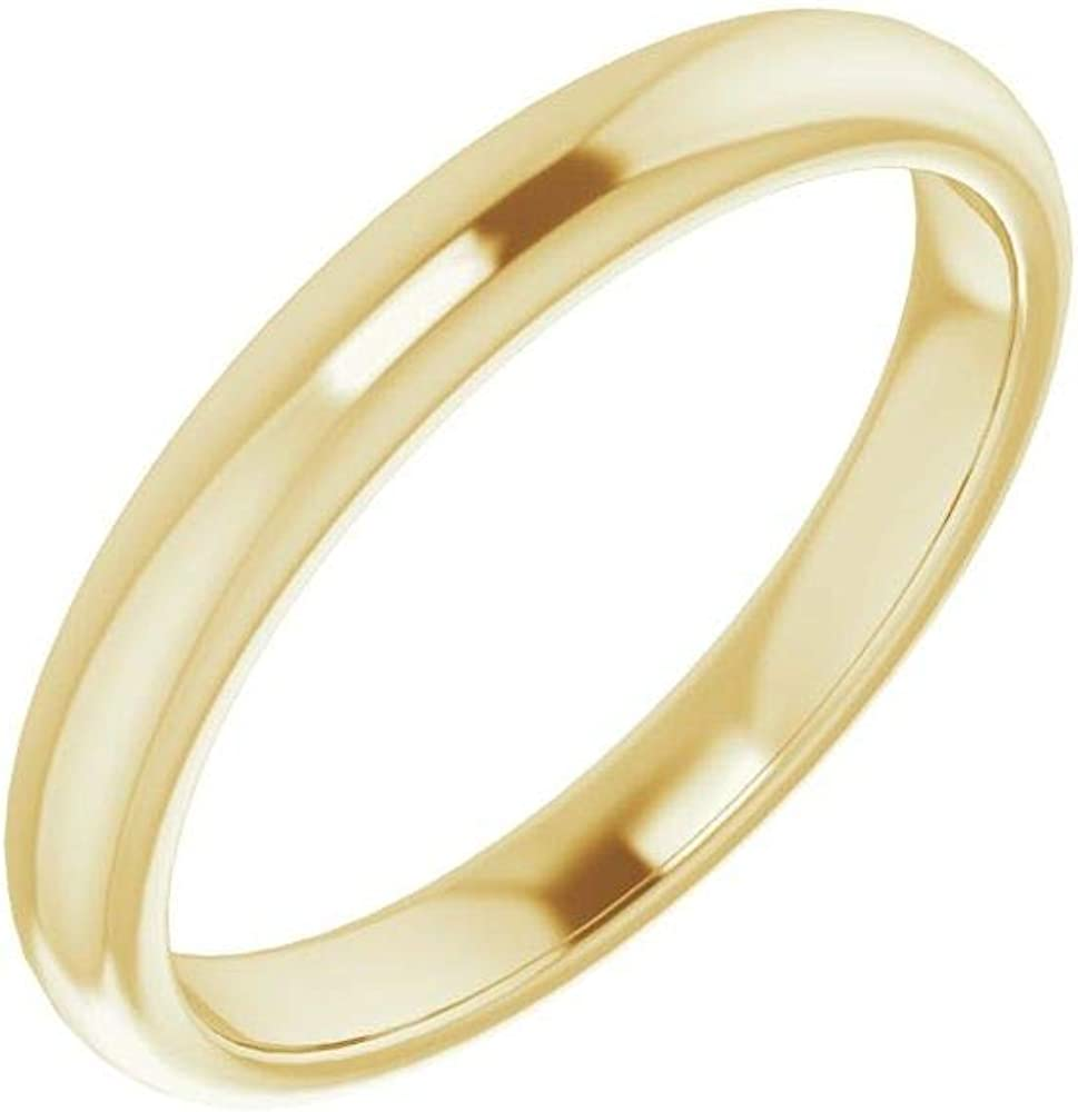 Solid 14K Yellow Gold Curved Notched Band Max 71% OFF Square 8mm for Ranking TOP7 Wedding