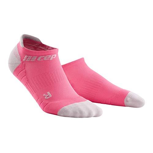 CEP – NO SHOW SOCKS 3.0 für Damen | Kurze Sportsocken für dein Workout in pink / grau | Größe III