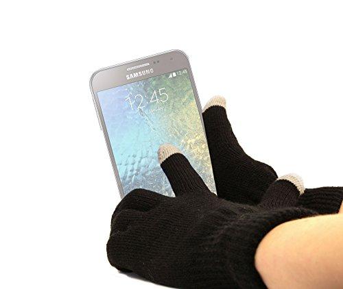 DURAGADGET Gants capacitifs spécial Froid pour écran Tactile de Smartphone Samsung Galaxy E5, E7, Xiaomi Redmi Note 2, ZTE Grand X Max+ et Nubia Z7 - Taille L (Large)