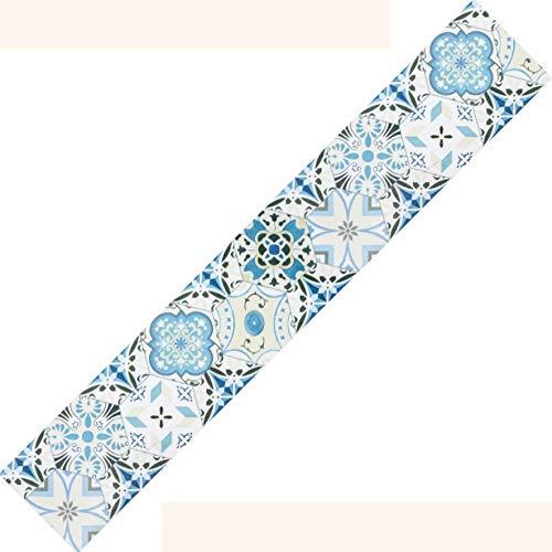 Papel pintado impermeable Marruecos, autoadhesivo, extraíble, cenefa, decoración para cocina, baño, salón, azulejos, 20 x 500 cm