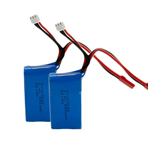 Dayan Cube B42920181206 Wltoys 2 Pack 7.4V 850mAh Li-Po Battery Spare Part for Wltoys V262 RC Quadcopter Replacement Blue (Not Be Used On RC Car)
