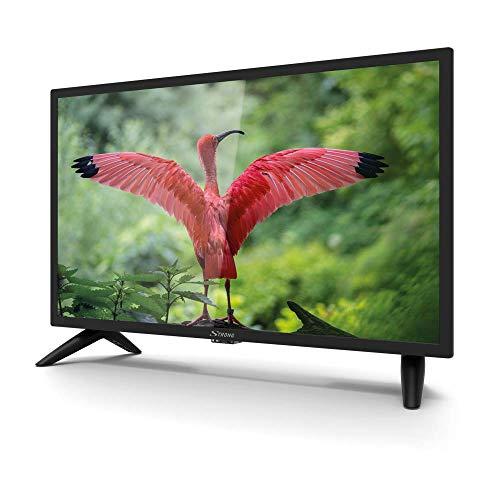 Strong SRT 24HC3023 24 Zoll Fernseher für Wohnmobile mit DVB-T2 HD, Triple-Tuner und 12 Volt Anschluss (HD, HDMI, SCART, USB, EPG, CI+, DVB-T Antenne), schwarz