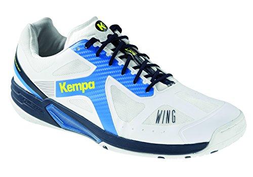 Kempa Herren Wing LITE Handballschuhe, Weiß (Blanco/Azul Fair/Azul Mar 000), 45.5 EU
