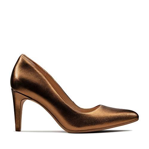 Clarks Damen Laina Rae Stiefeletten, Silber (Bronze Metallic Bronze Metallic), 41 EU