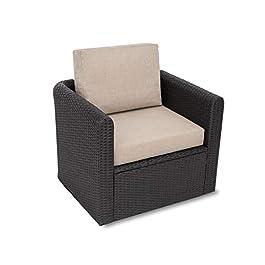 • Miatech Coussin de jardin, pour chaise, fauteuil rotin, fauteuil jardin, coussin fauteuil rotin, coussin fauteuil…