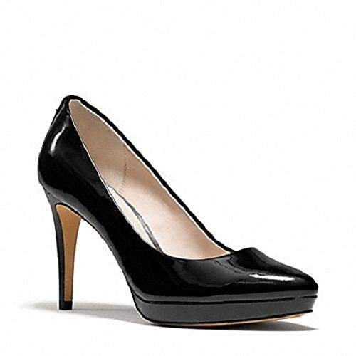 Coach Giovanna Women's Black Patent Pumps Heels Shoes (7.5)