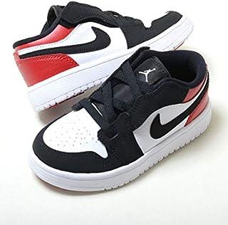 [ナイキ] 16cm-22cm AIR JORDAN 1 LOW ALT PS エア ジョーダン 1 ロー ALT PS ホワイト×ブラック×レッド 紐ゴム キッズ 子供靴 スニーカー bq6066-116