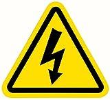 Pegatina Riesgo Eléctrico 15 Unidades de 7 cm Señal Adhesiva Cuadro Eléctrico Triángulo con Rayo (7 cm)