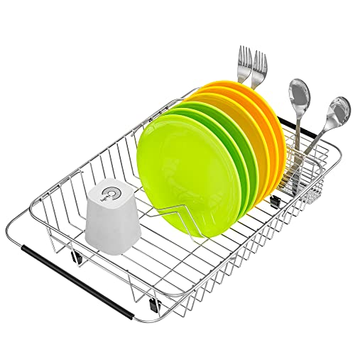 iPEGTOP Expandable Dish Drying Rack with Rustproof Stainless Steel...
