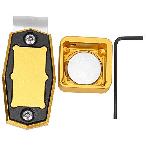 Vbest life Mini Porta Calcetto Magnetico Portatile con Supporto per Scatola Porta Gesso con Accessori fissi per Biliardo(Oro)