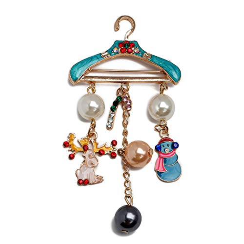 Koobysix Kleerhanger, kerstman, zinklegering, goud, modesieraad, accessoires, kerstfeest, damesbroches