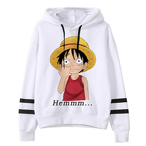 New Anime One Piece Anime Manga Hoodie Jacket Luffy Zoro Sanji Ace Cosplay Hoodies Sweatshirt Sweater for Men Boys (GQ53511,L)
